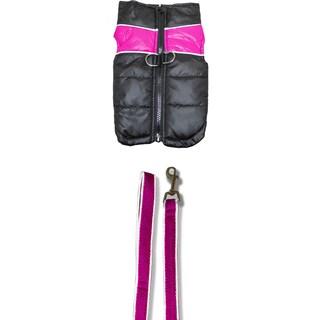 Platinum Pets Pink Reflective Winter Vest/ Leash Combo