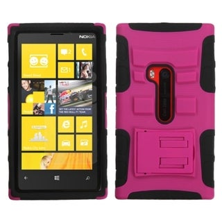BasAcc Hot Pink/ Black Case with Stand for Nokia 920 Lumia