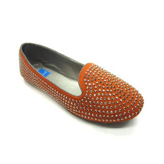 Blue Women's Heff Stud-S Orange Flats