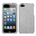 BasAcc Silver Diamante Phone Protector Case for Apple iPhone 5