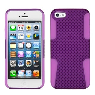 INSTEN Purple/ Electric Pink Astronoot Phone Case Cover for Apple iPhone 5