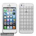 BasAcc Clear Argyle Candy Skin Case Protector Case for Apple? iPhone 5