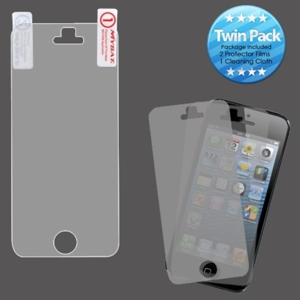 INSTEN Clear Screen Protector Twin Pack for Apple iPhone 5/ 5C/ 5S/ SE