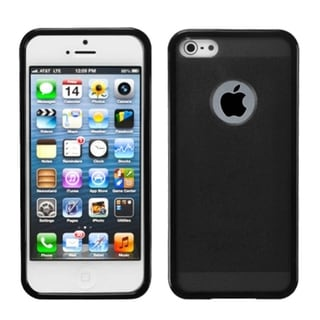 BasAcc Smoke/ Black Hybrid Case for Apple iPhone 5