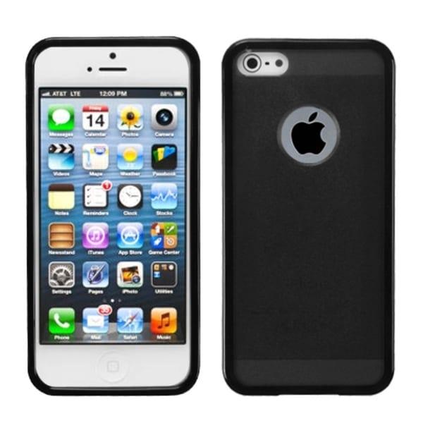 INSTEN Smoke/ Black Hybrid Phone Case Cover for Apple iPhone 5