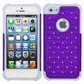 BasAcc Purple/ Solid White Lattice Case For Apple iPhone 5