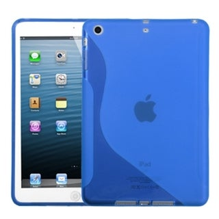 BasAcc Dark Blue S-Shape Candy Skin Case for Apple iPad Mini