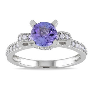 Miadora 14k White Gold Tanzanite 1/4ct TDW Diamond Ring (G-H, I1-I2)