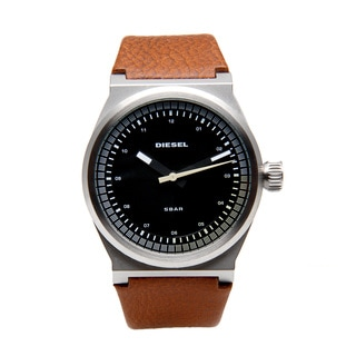Diesel Men's Brown Leather Band Dress Watch