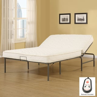 Recline-a-Bed Adjustable Remote Control Metal Frame and Queen-size Mattress Set