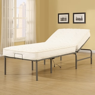 Recline-a-Bed Adjustable Remote Control Metal Frame and Extra Long Twin-size Mattress Set