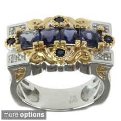 Michael Valitutti Two-tone Gemstone and Diamond Accent Ring