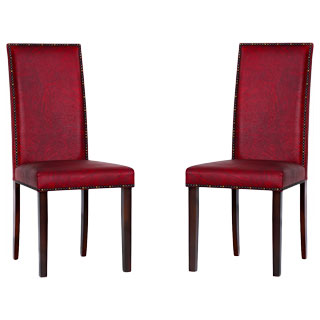 Warehouse of Tiffany 'Blaze' Black/ Red Dining Room Chairs