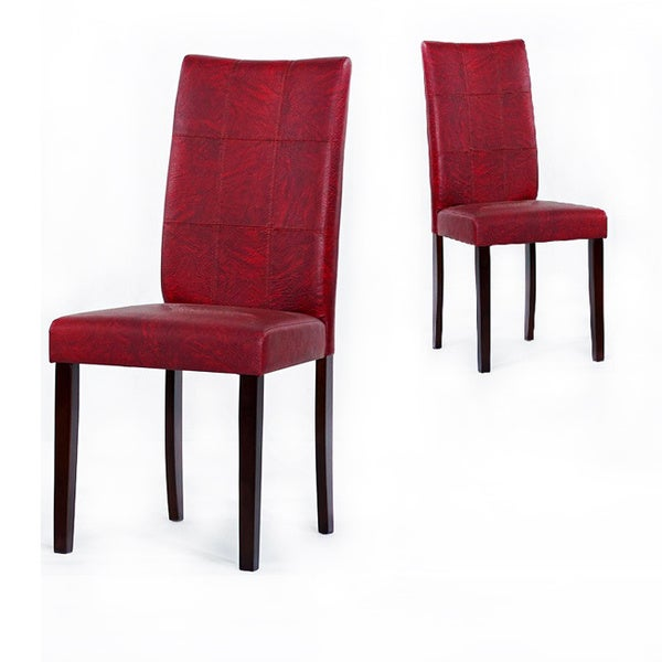 Warehouse of tiffany eveleen black red dining room chairs for Red dining room chairs