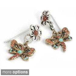 Sweet Romance Enamel Dragonfly Earrings