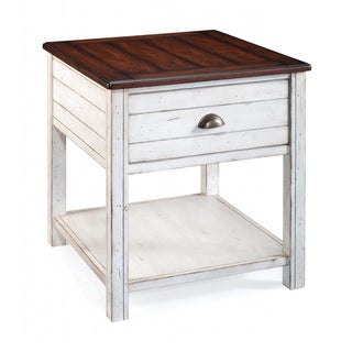 'Bellhaven' Alabaster Finish Rectangular End Table