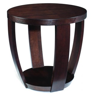 Sotto Sienna Wood Round Open End Table