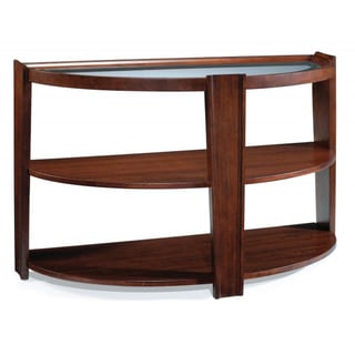 'Nuvo' Umber Finish Glass Top Sofa Table
