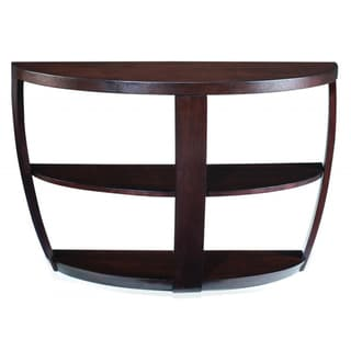 Sotto Sienna Wood Open Sofa Table