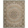 Safavieh Handmade Heritage Medallion Blue/ Grey Wool Rug (7'6 x 9'6)