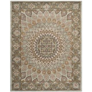 Safavieh Handmade Heritage Medallion Blue/ Grey Wool Rug (8'3 x 11')