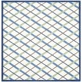 Handmade Children's Diamonds Ivory/ Blue Cotton Rug (6' Square)