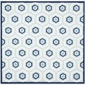 Handmade Children's Hexagon Light Blue Cotton Rug (6' Square)