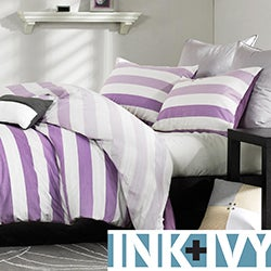 Ink and Ivy Peyton Purple 3-piece Mini Duvet Cover Set