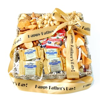 Happy Father's Day Ghirardelli and Snacks Gift Basket
