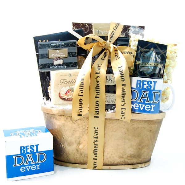 Happy Father's Day with Mug Keepsake Gift Basket