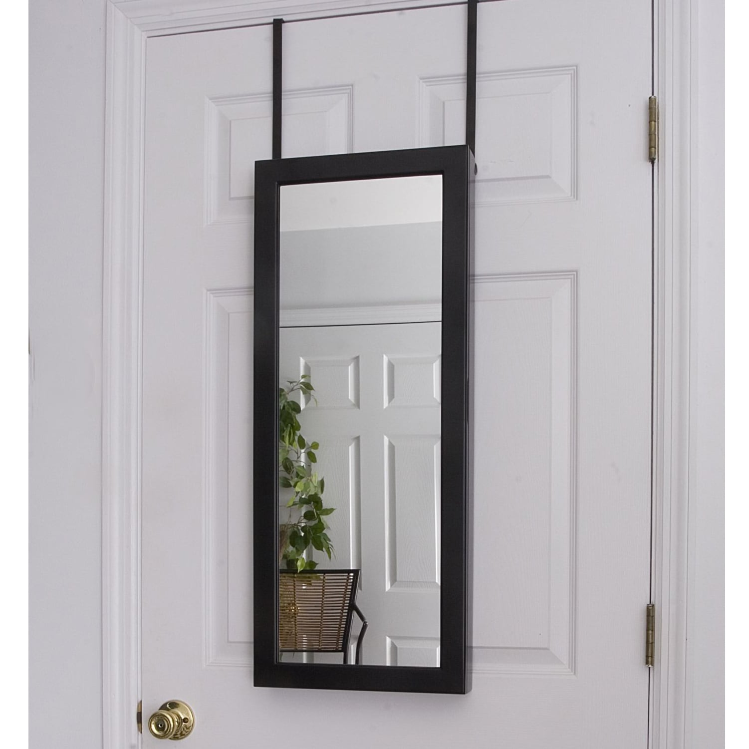 Space Saving Over-the-Door/ Wall Hanging Mirrored Jewelry Armoire