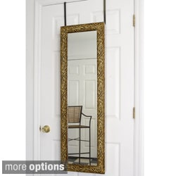Over-the-Door Wall Hanging Mirrored Jewelry Armoire
