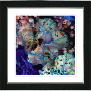 Studio Works Modern 'Royal Carnations - Ocean Blue' Framed Art Print