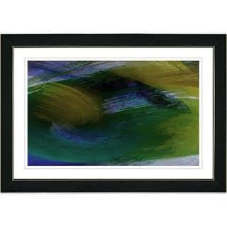 Studio Works Modern 'Prelude - Moss' Framed Art Print