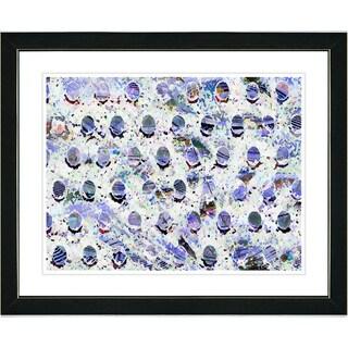 Studio Works Modern 'Blue Eggs' Framed Art Print