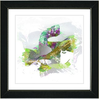 Zhee Singer 'Queen Fish - Green' Black Framed Art Print
