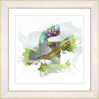 Zhee Singer 'Queen Fish - Green' White Framed Art Print