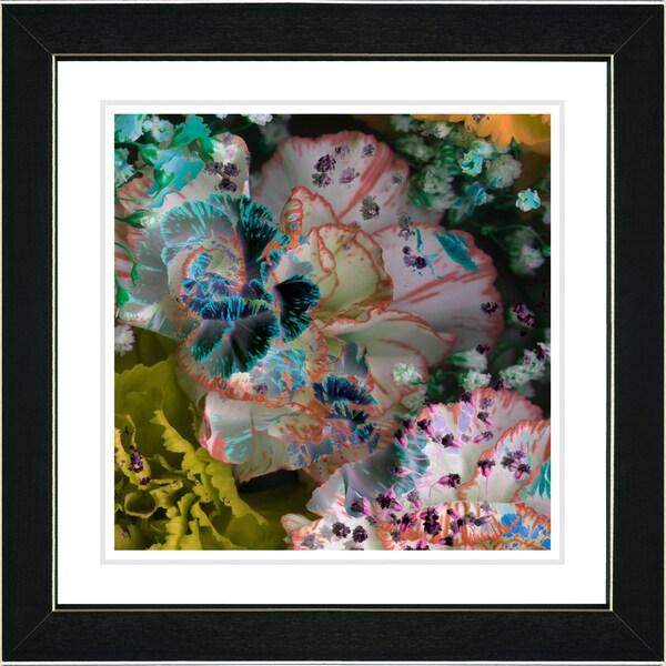 Studio Works Modern 'Royal Carnations - Morning Peach' Framed Art Print