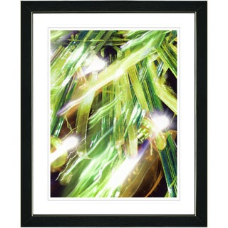 Studio Works Modern 'Aurora - Green' Framed Print