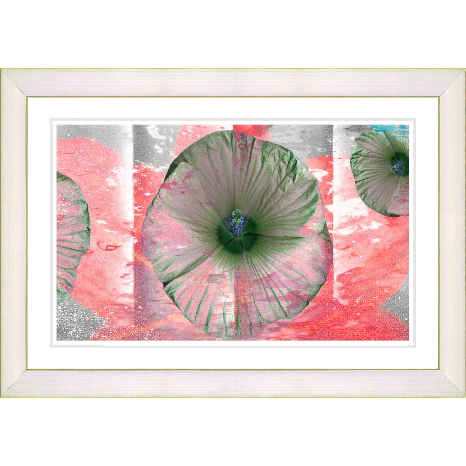 Overstock.com Studio Works Modern 'Moon Flower - Red' Framed Print at Sears.com