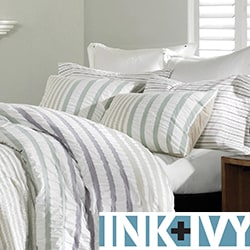 Ink and Ivy Sutton 3-piece Duvet Cover Set