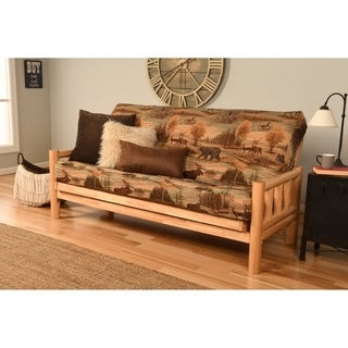 Aspen Lodge Natural Futon Frame and Full-size Mattress Set