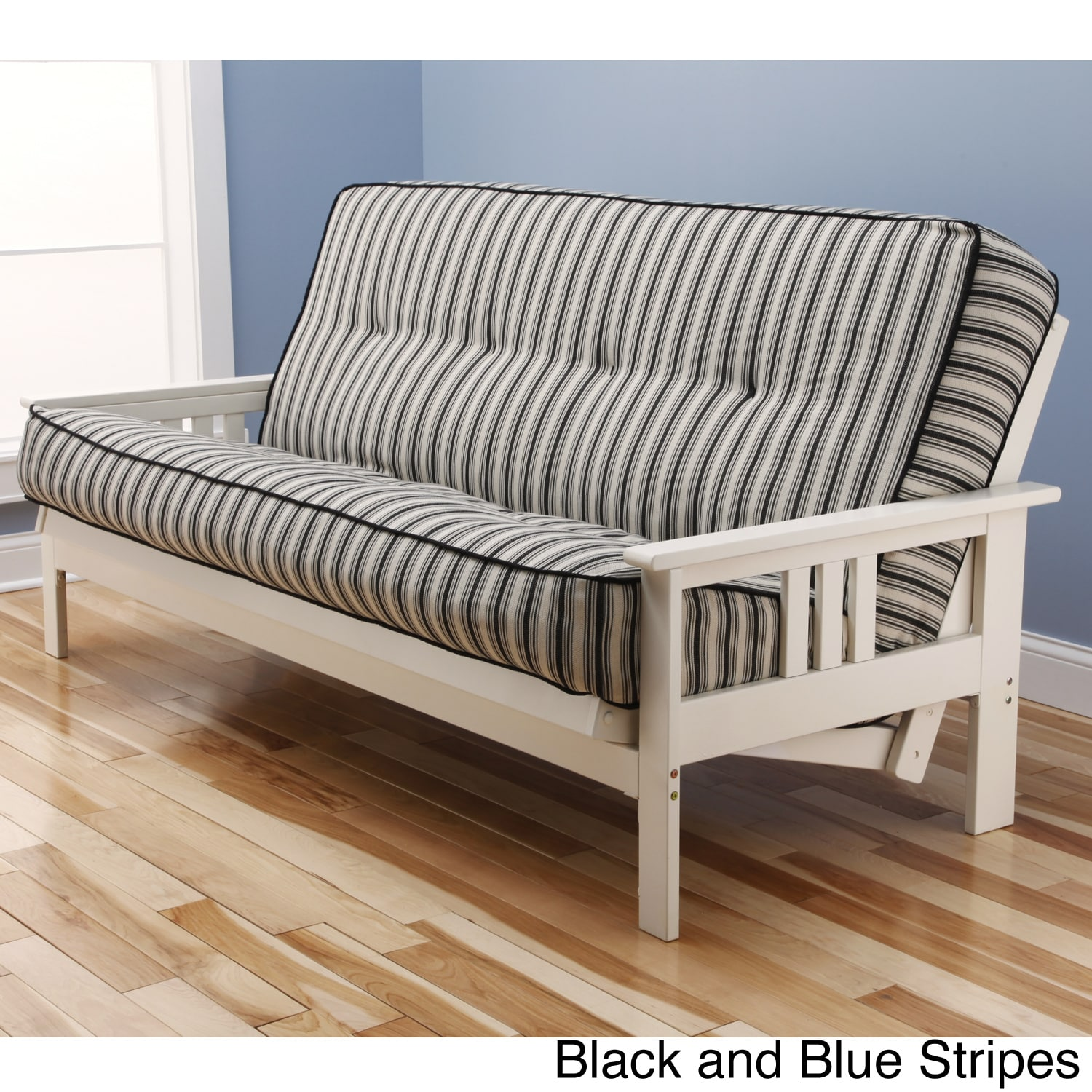 Beli Mont Multi-Flex Futon Frame in Antique White Wood with Innerspring Mattress Set at Sears.com