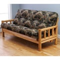 Aspen Lodge Natural Futon Frame and Innerspring Mattress Set