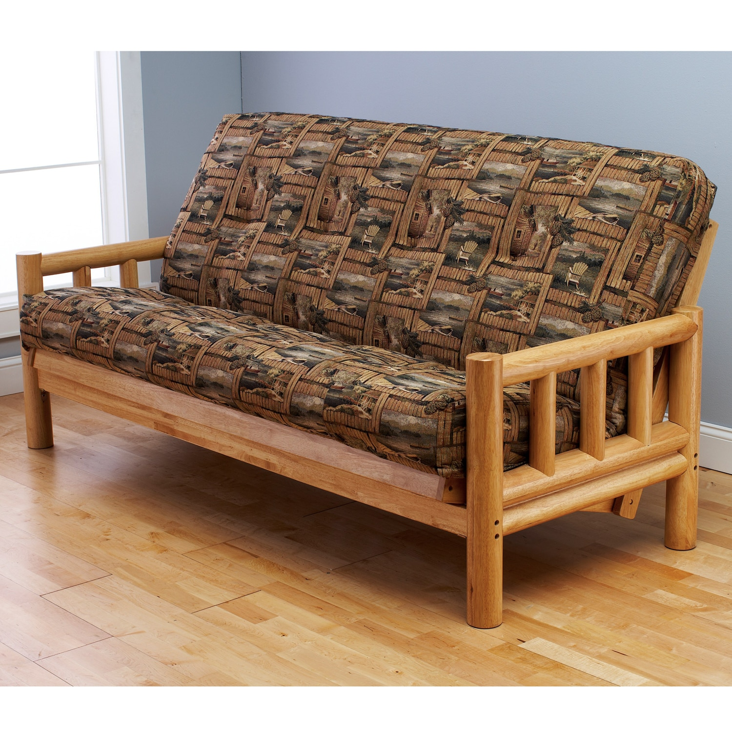 Aspen Lodge Natural Futon Frame and Innerspring Mattress Set at Sears.com