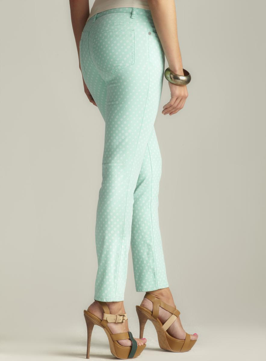 Two By Vince Camuto Polka Dot Straight Leg Jean