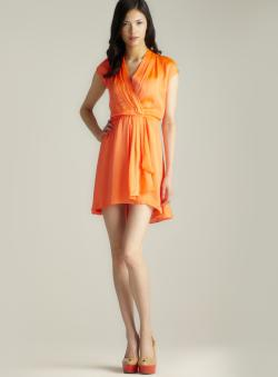 Vertigo Hi-lo Surplice Dress