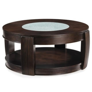 Magnussen home furnishings coffee sofa end tables for Wood and glass cocktail tables