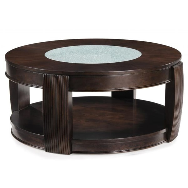 Round Glass Coffee Table Wood Base Home And Interior Design Ideas