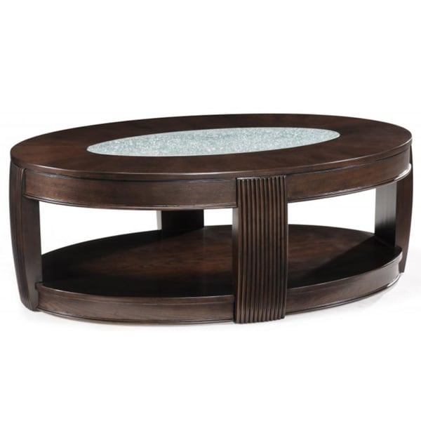 39 Ino 39 Wood And Glass Oval Cocktail Table Overstock Shopping Great Deals On Magnussen Home